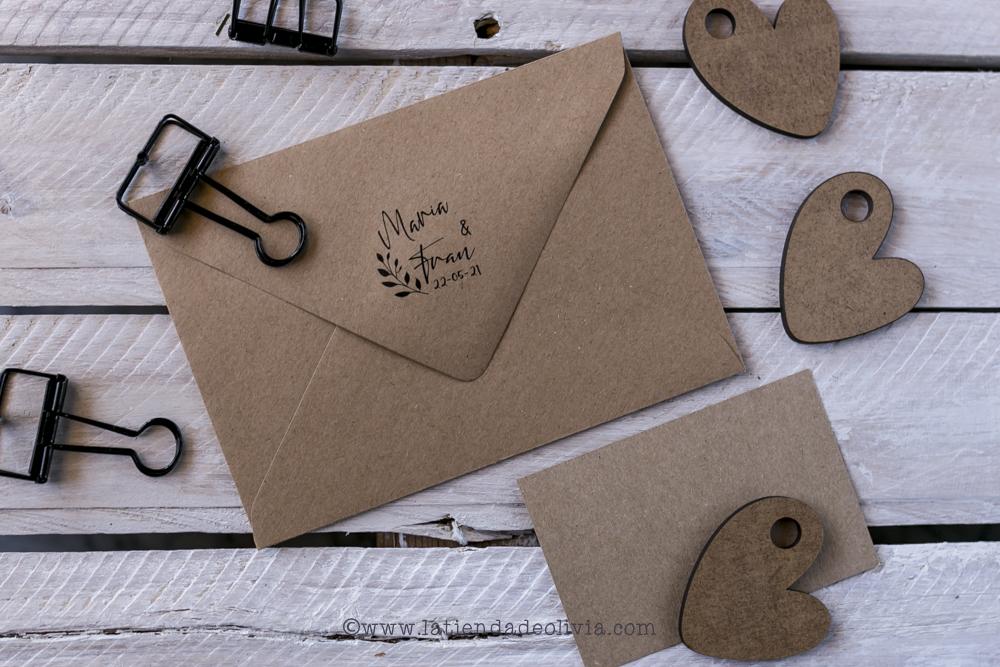 sello personalizado para invitaciones de boda la tienda de olivia