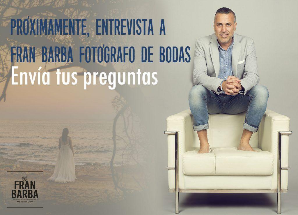 Fotografía de Fran Barba, fotógrafo de bodas sin posados