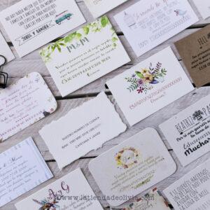 Invitaciones para listas bodas