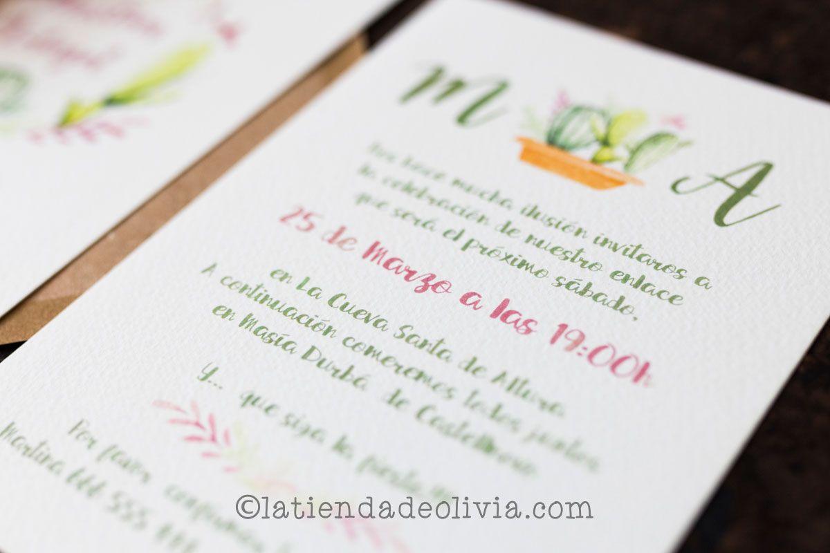 Invitaciones De Boda En Almería La Tienda De Olivia