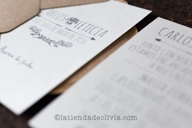 Invitaciones de boda en Cáceres