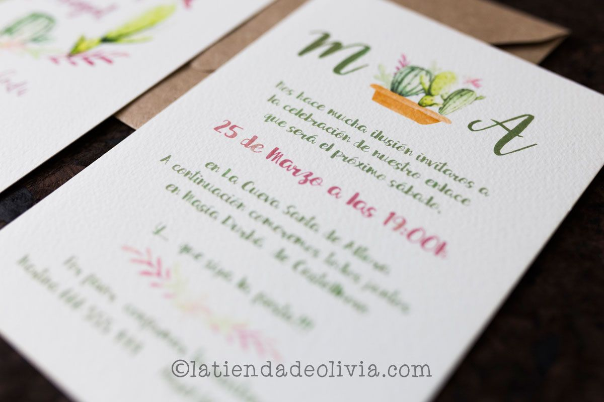 Invitaciones De Boda En Cantabria La Tienda De Olivia - Ver-invitaciones-de-boda