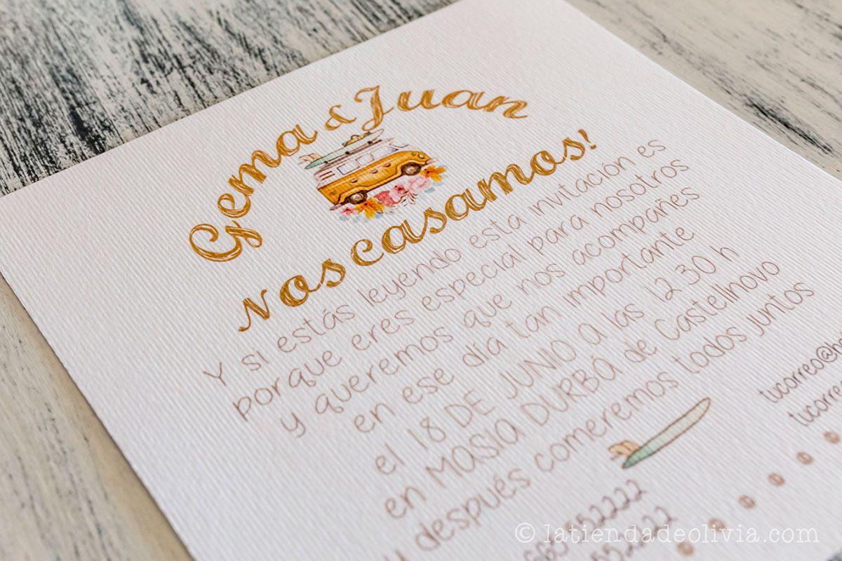 Invitaciones de boda en Gijn La Tienda de Olivia