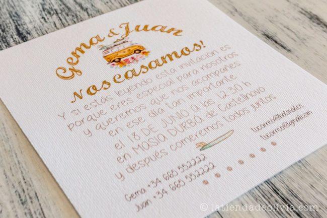Invitaciones de boda en Granada