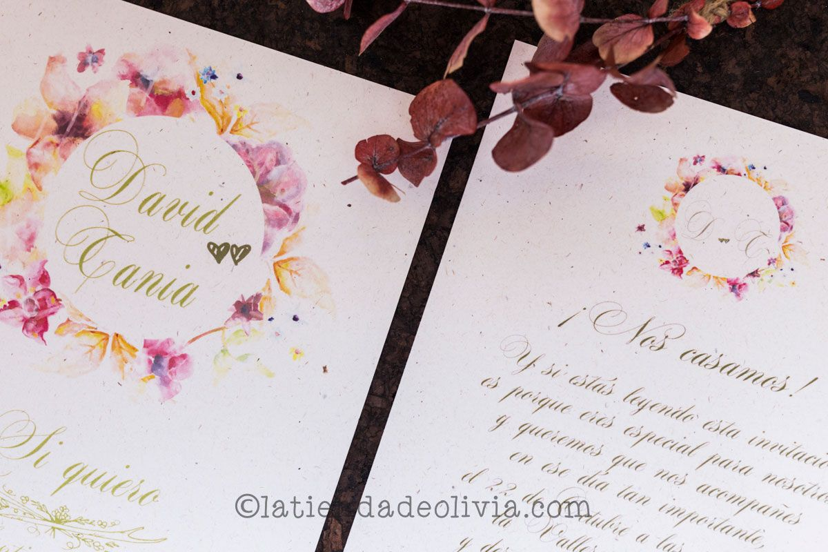 Invitaciones de boda en Jaén