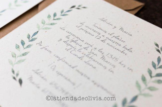Invitaciones de boda en Madrid