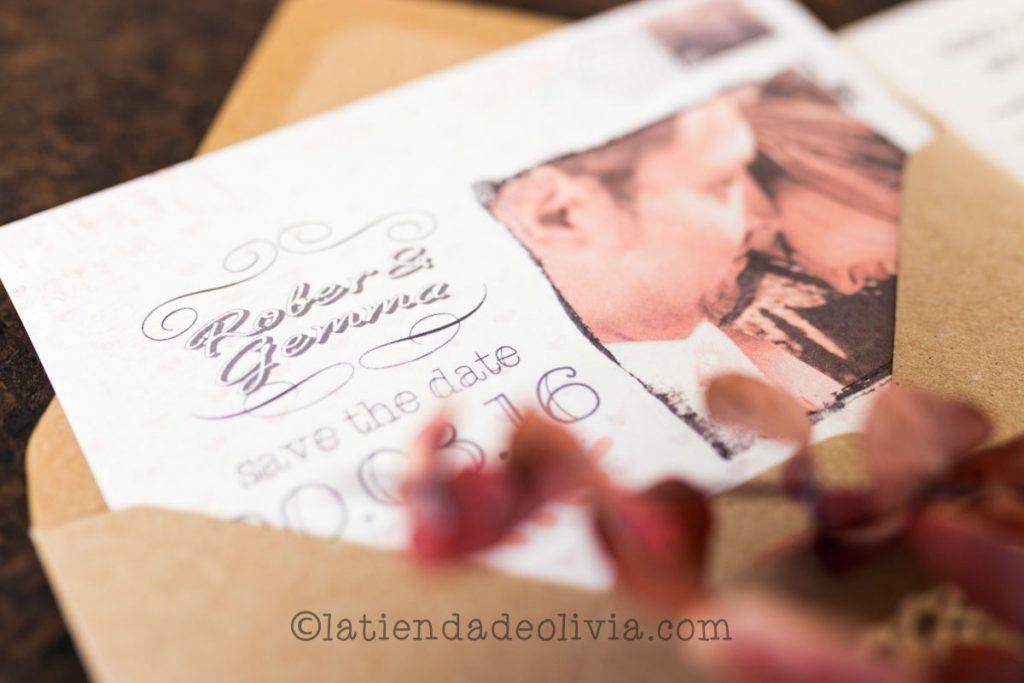 Invitaciones de boda en La Rioja, bodas vintage