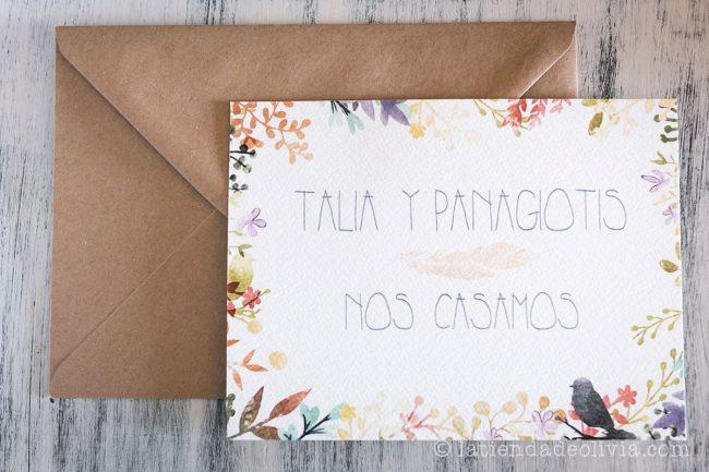 Invitaciones de boda en Santiago de Compostela