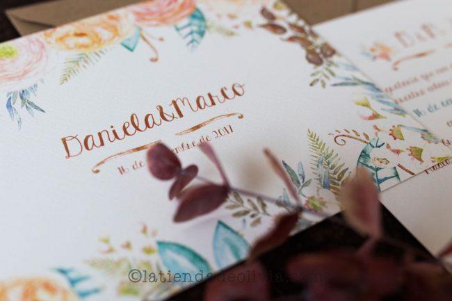 Invitaciones de boda en Vitoria-Gasteiz - La Tienda de Olivia