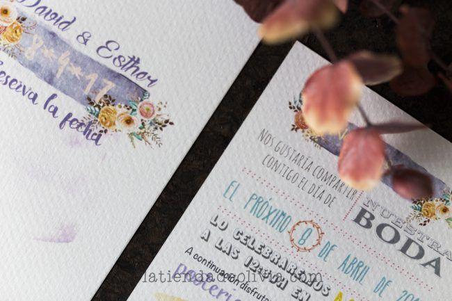 Invitaciones y papelería de boda en A Coruña