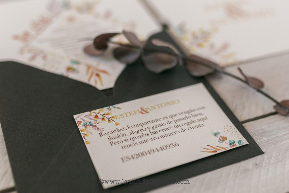 listas de boda, tarjeta bancaria