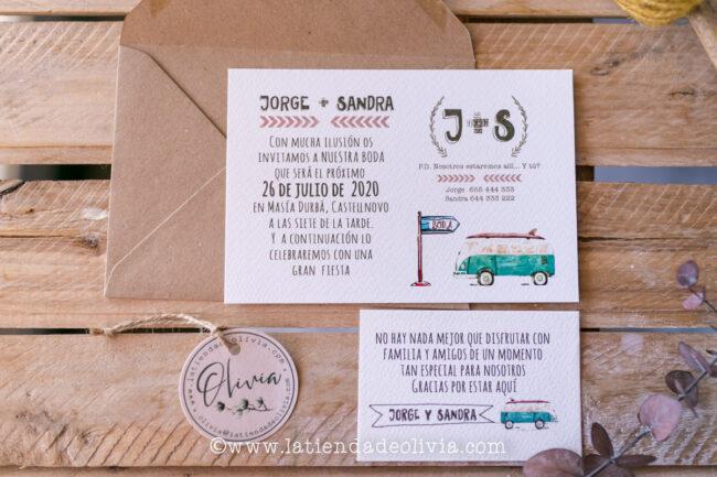 Invitaciones furgoneta originales