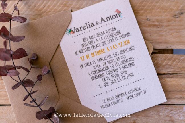 Invitaciones boda elegantes, Valencia