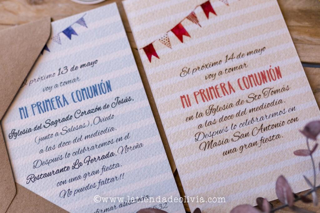 Invitaciones de comunión originales, Valencia