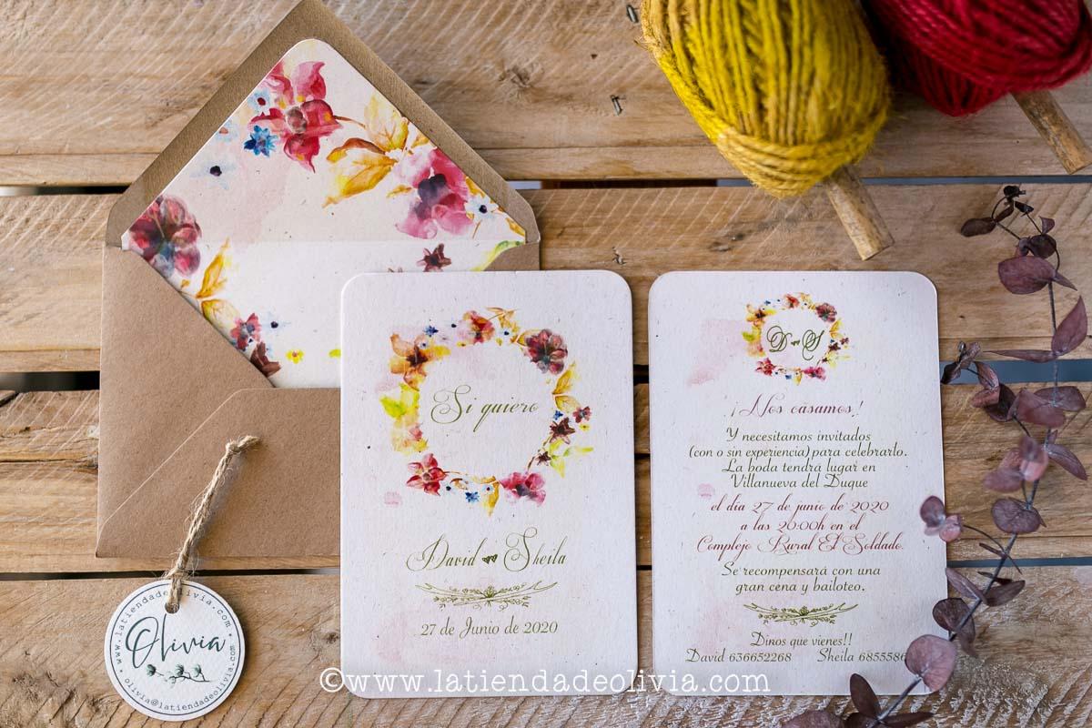 Invitaciones para bodas en Cadiz