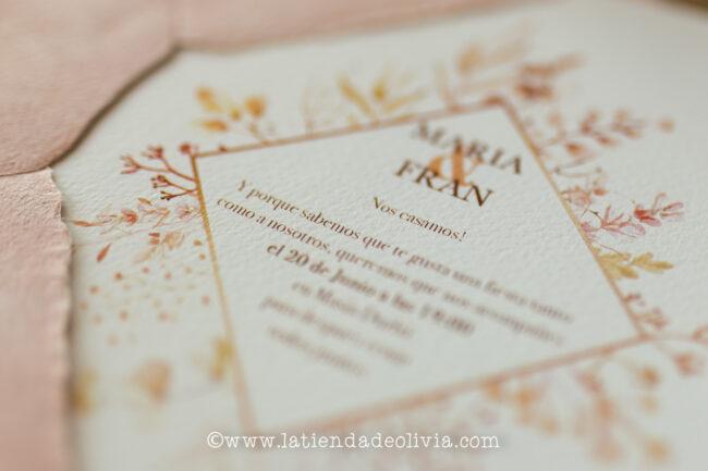 Invitaciones de boda elegantes, Leon