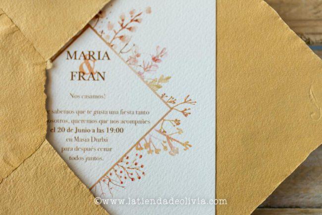 Invitaciones de boda Zamora y Barcelona