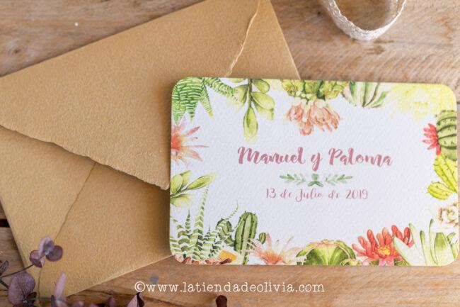 Invitaciones para bodas en Xàtiva