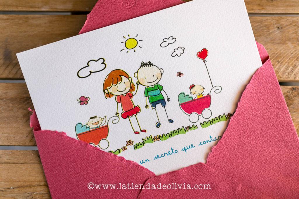 Invitaciones con hijos, tarjetas boda, Santiago de Compostela, bodas con niños