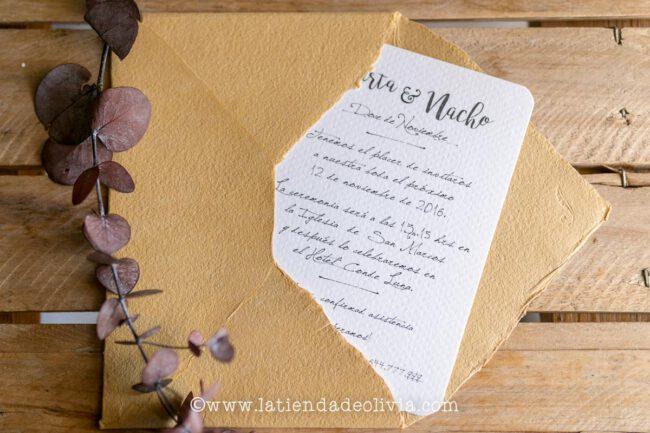 Invitaciones, tarjetas boda, Oviedo