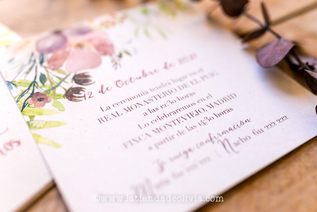 Tarjetas para bodas Xàtiva