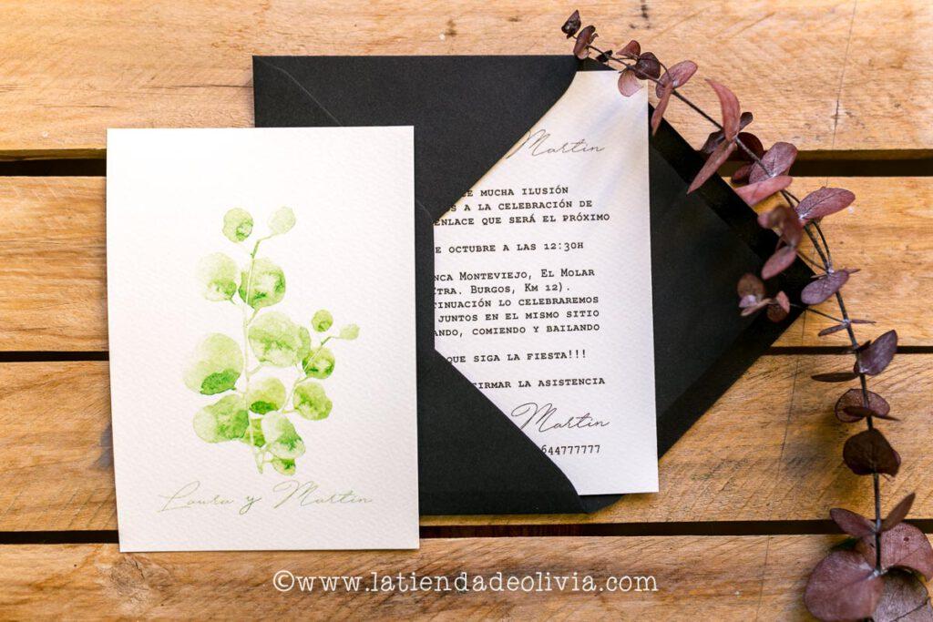 Invitaciones de boda elegantes, Zamora