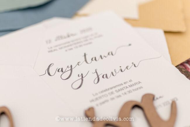 Invitaciones de boda elegantes, Oviedo