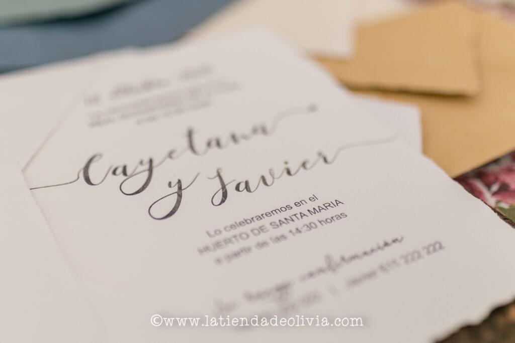 Invitaciones, tarjetas boda, Valladolid