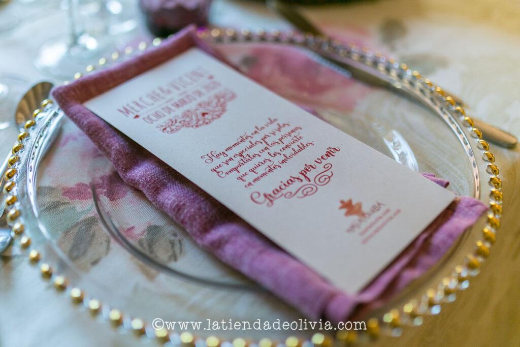 Invitaciones y minutas de boda en Tarragona