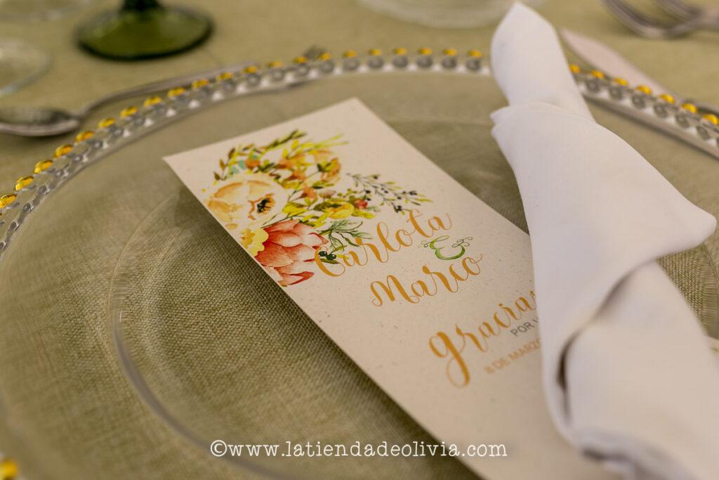Invitaciones y papelería de boda en Tenerife