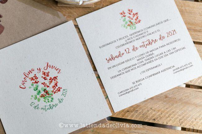 Invitaciones de boda elegantes, Alicante