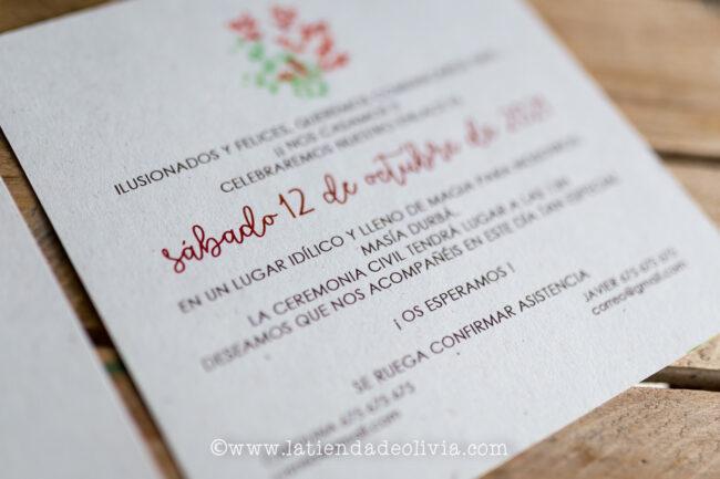 Invitaciones de boda originales, Gijón