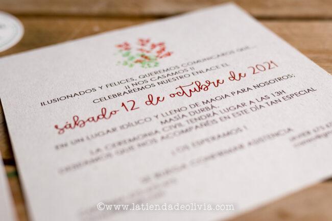 Invitaciones, tarjetas boda, Gipuzkoa - Guipúzcoa