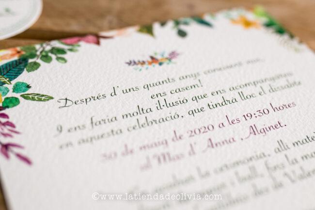 Invitaciones de boda elegantes, Cadiz