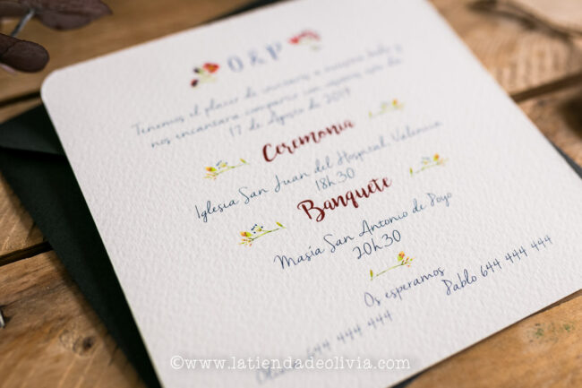 Invitaciones, tarjetas boda, Ferrol