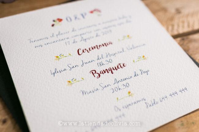 Invitaciones para bodas en ALMERIA