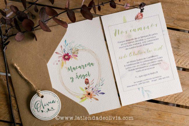 Invitaciones, tarjetas boda, Burgos
