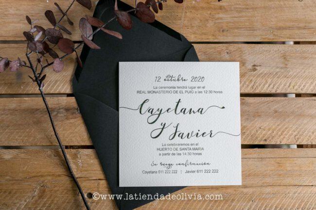 Invitaciones de boda elegantes, Segovia