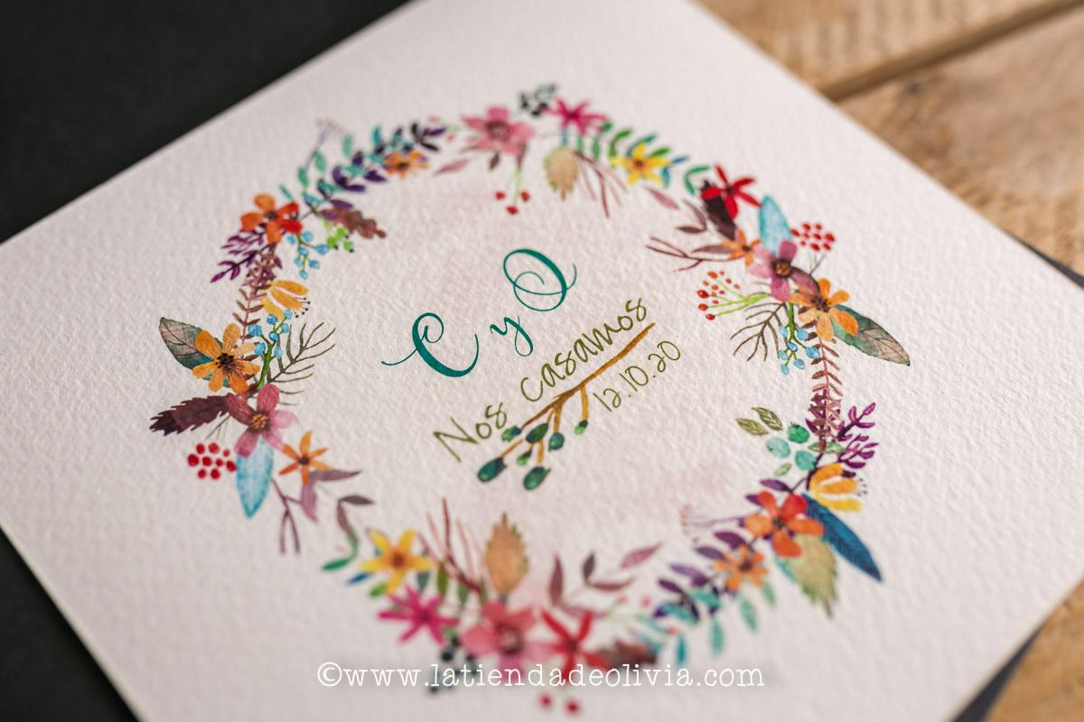 Invitaciones de boda elegantes, Tenerife