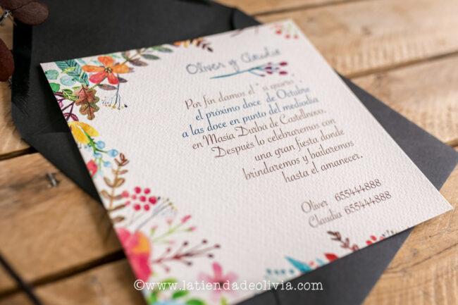 Invitaciones de boda originales, Getafe