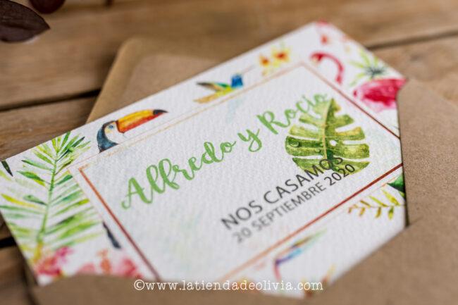 Tarjetas para bodas Ávila