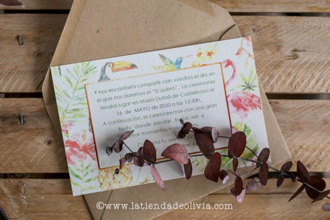 Invitaciones boda vintage, Cuenca