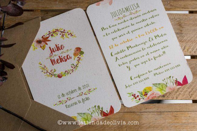 Tarjetas para bodas Cantabria