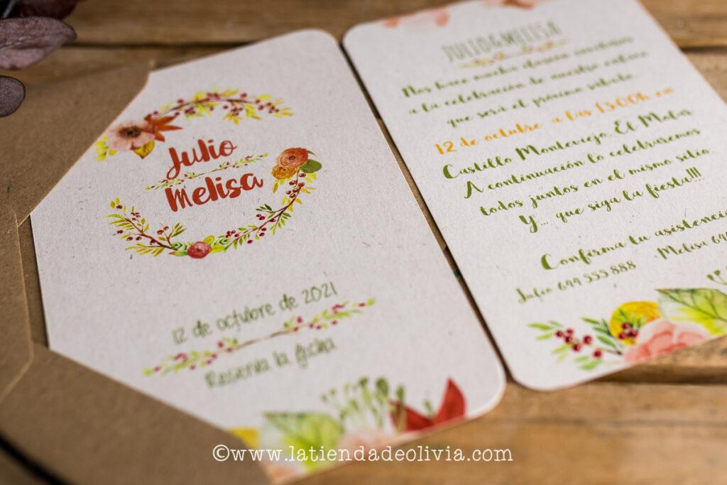 Invitaciones boda con hijos o con niños, Asturias