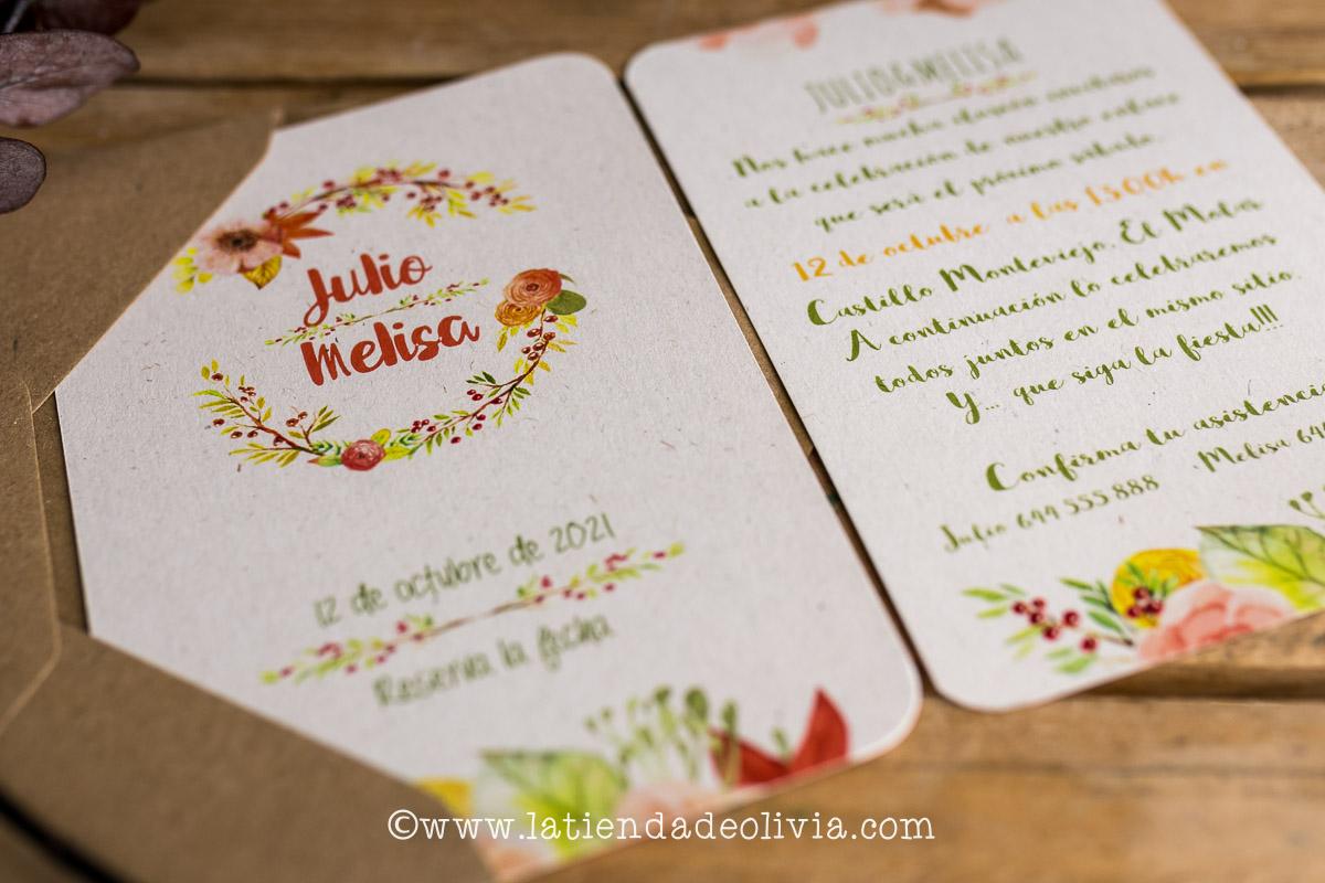 Invitaciones boda vintage, Asturias