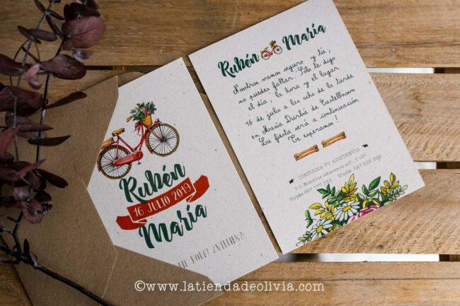 Invitaciones, tarjetas boda, Cuenca