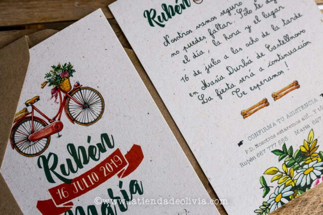 Invitaciones, tarjetas boda, Bilbo - Bilbao
