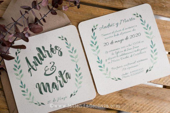 Tarjetas para bodas Mérida