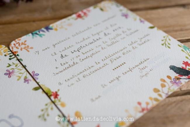 Tarjetas para bodas Asturias