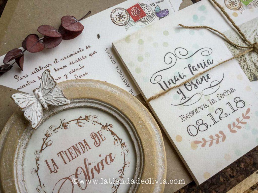 Invitaciones boda vintage, Pamplona,bodas con niños, con hijos